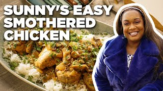 Sunny Anderson's Easy Smothered Chicken   The Kitchen   Food Network