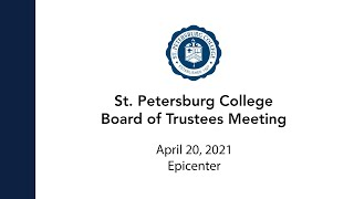 Board Of Trustees Meeting: 4/20/21