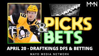 NHL DraftKings Picks Tuesday 4/20/21 | NHL Bets, Props, DFS Picks | 2021 Fantasy Hockey Picks & News