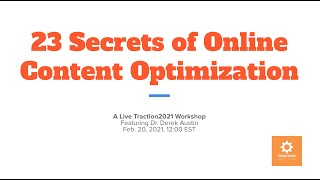 23 Secrets of Online Content Optimization | traction2021
