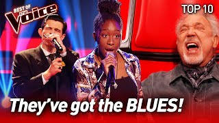 The best BLUES Blind Auditions to warm your SOUL on The Voice   Top 10