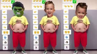 FUNNIEST VLAD and NIKI and HULK Fat Tummy Dance Effects Most Viewed On Youtube