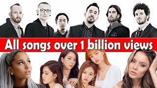 All songs with over 1 billion views  (May 2021 no.4)