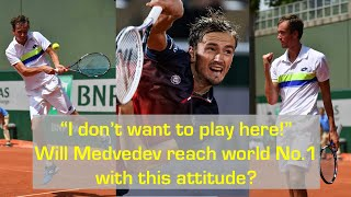 """""""I HATE IT!"""" Will Daniil Medvedev FAIL TO REACH WORLD NO.1 because of this huge mental problem?"""