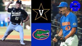 #2 Vanderbilt v #14 Florida Highlights (Leiter v Mace, Crazy Game) | 2021 College Baseball Highlight