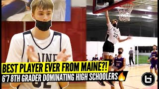 BEST 8TH GRADER?! 6'7 COOPER FLAGG Putting MAINE BASKETBALL on the Map! 14 YEAR OLD Beating HS Comp!