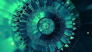 Hi-Tech Rings Spin || Blue & Cyan Glow looped || Animation Background || 4K 60fps Wallpaper Footage