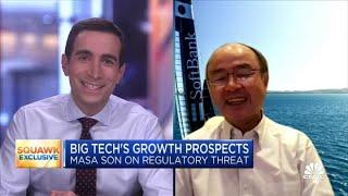 SoftBank's Masa Son on investing in Big Tech names, regulatory threats in the U.S.
