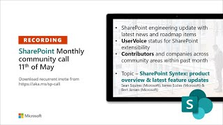 SharePoint Monthly Community Call – May 2021