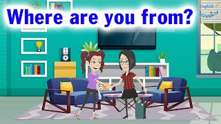 English Conversation Practice Easy: Where are you from?