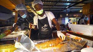 Spicy GHANA FOOD TOUR!! Tatale, Egusi & Abolo   Accra, Ghana
