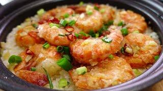 Garlic Shrimp Clay Pot Rice Style | Dinner Diary