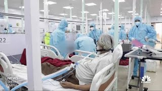 Second wave of Covid cases hits India 'like a storm'
