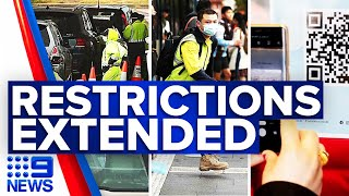 COVID-19 restrictions extended in Sydney | 9 News Australia