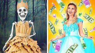 RICH Unpopular PRINCESS vs Broke Popular PRINCESS || Types of Princess by 123 GO! SCHOOL