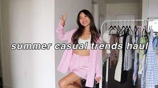 SUMMER TRENDS CLOTHING HAUL | casual summer looks 2021