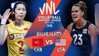CHN vs. USA - Highlights Week 5 | Women's VNL 2021