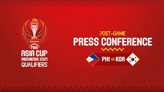 Philippines v Korea - Press Conference | Asia Cup 2021 Qualifiers