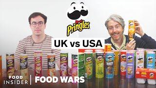 US vs UK Pringles Chips | Food Wars