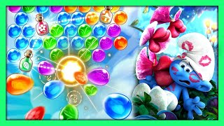 Smurfs Bubble Story Level 31 - 35 | Smurfs Bubble Shooter Game |  New Android Games | @Game Point PK