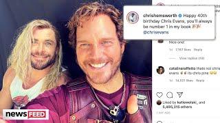 Chris Hemsworth TROLLS Chris Evans With Chris Pratt Birthday Photo!