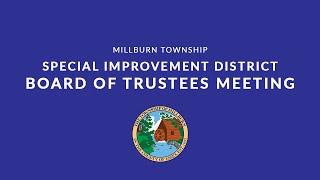 Millburn Township Special Improvement District Board of Trustees Meeting June 17, 2021