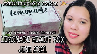 FULL REVEAL LEMONADE BEAUTY BOX JUNE 2021 LINEUP PRODUCTS | SUBSCRIPTION BOX | UNBOXINGWITHJAYCA