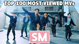 [TOP 100] Most Viewed SM Music Videos (July 2021)