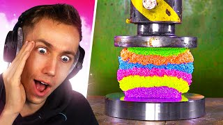 Reacting to the TOP 100 HYDRAULIC PRESS Moments