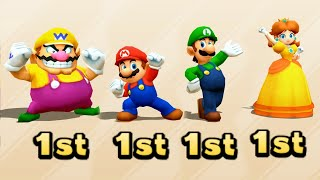 Mario Party The Top 100 - Wario vs Mario vs Luigi vs Daisy(Very Hard Difficulty)| Cartoons Mee