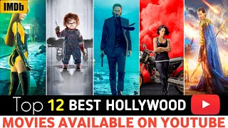 Top 12 Great, Hollywood Hindi Dubbed Movies || Available On YOUTUBE,
