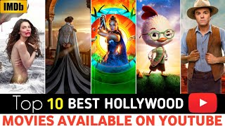 Top 10 Most Unique, Hollywood Hindi Dubbed Movies || Available On YouTube,