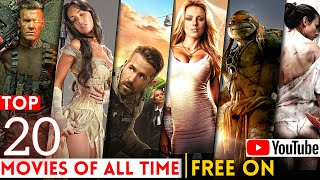 Top 20 Great Hollywood Movies Available on YouTube in Hindi | Best hollywood Movies | HollyWorld