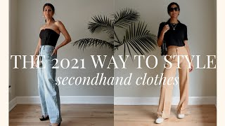 Styling Secondhand Outfits for Summer 2021 | Slow Fashion