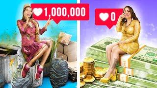 Rich Unpopular Girl vs Broke Popular Girl