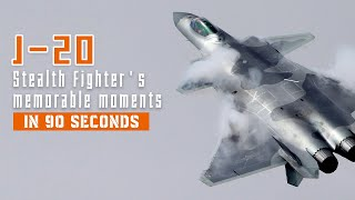 J-20 stealth fighter's top action in 90 seconds
