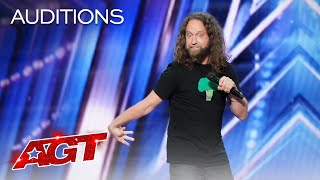 Hilarious Comedian Josh Blue Delivers a Funny Audition - America's Got Talent 2021