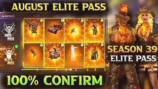 August elite pass free fire 2021 | free fire august elite pass 2021 | season 39 elite pass free fire
