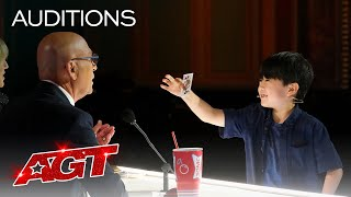 9-Year-Old Magician The Amazing Shoji Delivers Cool Card Magic! - America's Got Talent 2021