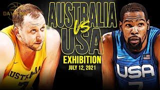 USA vs Australia Full Game Highlights | USA Basketball Exhibition | July 12, 2021 | 1080p