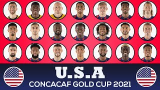 UNITED STATES SQUAD CONCACAF GOLD CUP 2021