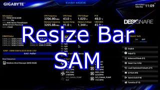 How To Enable Resize BAR NVIDIA AMD SAM Smart Access Memory Gigabyte TRX40 Designare F4q Bios