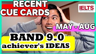 MAY-AUG CUE CARDS 2021 IELTS Speaking   List of Topics with IDEAS, Topic Vocabulary, & Collocations