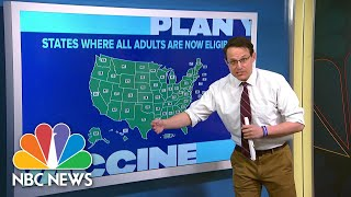 Steve Kornacki Crunches The Numbers On U.S. Covid Vaccinations | NBC News NOW