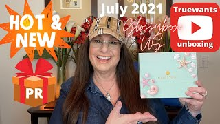 GLOSSYBOX July 2021 US Version ! PR Spoilers !!  Such a Beautiful Box! Unboxing ! #gifted