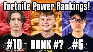 Ranking The Top 10 BEST Fortnite Players Worldwide! (Power Rankings)