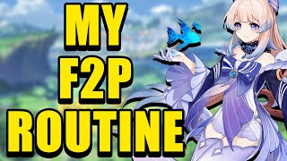 My F2P Daily Routine! (highly recommended) | Genshin Impact