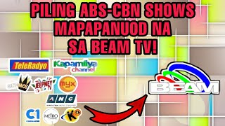 ABS-CBN-PRODUCED SHOWS MAPAPANUOD NA SA BEAM TV! ABS-CBN FANS NA-EXCITE! TRENDING ON YOUTUBE...