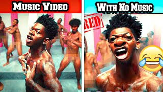 Popular Rap Music Videos vs Without Music Version