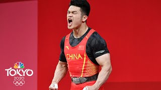 China's Shi lifts combined 802.48 POUNDS for new world record | Tokyo Olympics | NBC Sports
